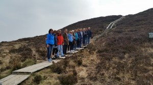 group walk on Slieve Bloom Boardwalk